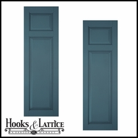 24in. Wide Classic Collection Raised 2 Unequal Panel Shutters (pair)