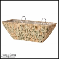 24in. Silverglade Seagrass Tapered Window Basket
