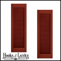 24in. Wide - Architectural Collection Fixed Louvered Composite  Fiberglass Shutters (pair)