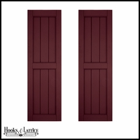 12in. Wide - Architectural Collection V-Groove Flat Panel Shutters (Pair)