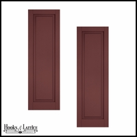 18in. Wide - Classic Collection Raised Single Panel Shutters (pair)