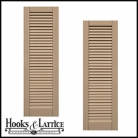 24in. Wide - Classic Collection  Wood & Resin Composite Louvered Shutters (pair)