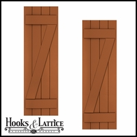24in. Wide with 5 Boards and Z-Bar - Classic Collection Composite Board & Batten Shutters (pair)