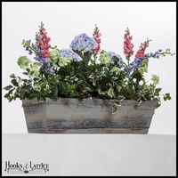 42in. Modern Farmhouse Window Box - Distressed Reclaimed Finish