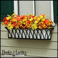 "30"" Arch Decora Window Box w/ White PVC Liner"