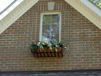 30in. French Window Box on Brick