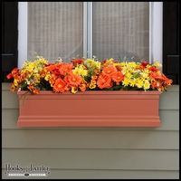 30in. Terra Cotta Supreme Fiberglass Window Box