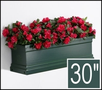 30in. Grove Green Supreme Fiberglass Window Box