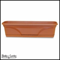 30in. Medallion PVC Window Box - Terra Cotta