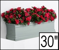 30in. Slate Grey Supreme Fiberglass Window Box