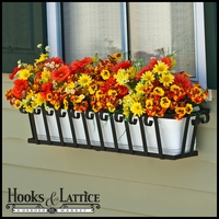 30in. Venetian Decora Window Box w/ Vinyl Liner