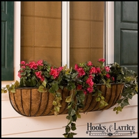 "30"" XL Carolina Window Box w/ XL Coco Liner"