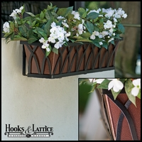 30in. Arch Decora Window Box w/ Textured Bronze Liner (Hammered Finish)