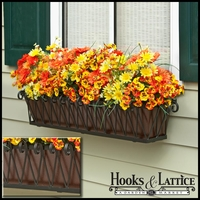 30in. Del Mar Decora Window Box w/ Textured Bronze Liner