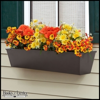30in. Galvanized Window Box- Bronze Tone