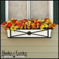 30in. Medallion Decora Window Box w/ Vinyl Liner