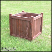 30in. Square Slatted Cedar Planter