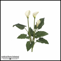 "32"" Calla Lily Bush - White 