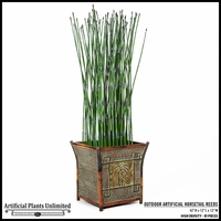 32in. H Outdoor Artificial Horsetail Reeds Per Foot- High Density