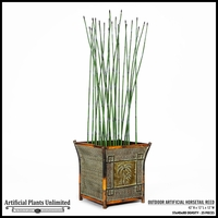 32in. H Outdoor Artificial Horsetail Reeds Per Foot- Standard Density
