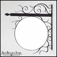 32in. Round Scroll Bavarian Fixed Frame Bracket w/ PVC Blank