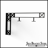 "34"" Heavy Duty Crosshatch Truss Design Fixed Mount Sign Bracket"