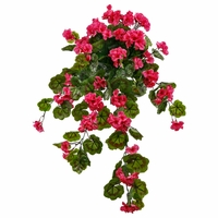 34in. Geranium Hanging Vine, Outdoor Rated - Rose Pink