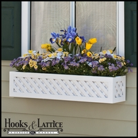 """36"""" Lattice Premier Window Box w/ *Easy Up* Cleat Mounting System"""