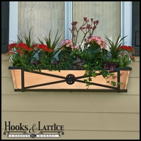 """36"""" Medallion Decora Window Boxes w/ Real Copper Liner"""