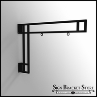 26in. Modern Truss Hanging Sign Bracket