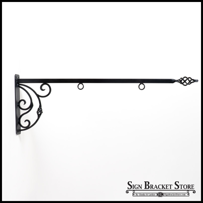 36 Quot Napoli Lower Scroll Sign Bracket