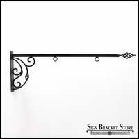"36"" Napoli Lower Scroll Sign Bracket"