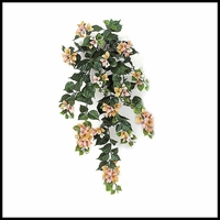 "36"" Outdoor Artificial Bougainvillea- Peach/Pink/Cream"