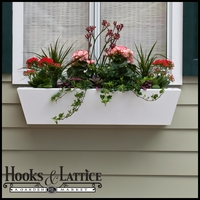 "36"" Tapered Urban Chic Premier Window Box w/ *Easy Up* Cleat Mounting System"