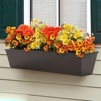 24in. Galvanized Window Box- Bronze Tone