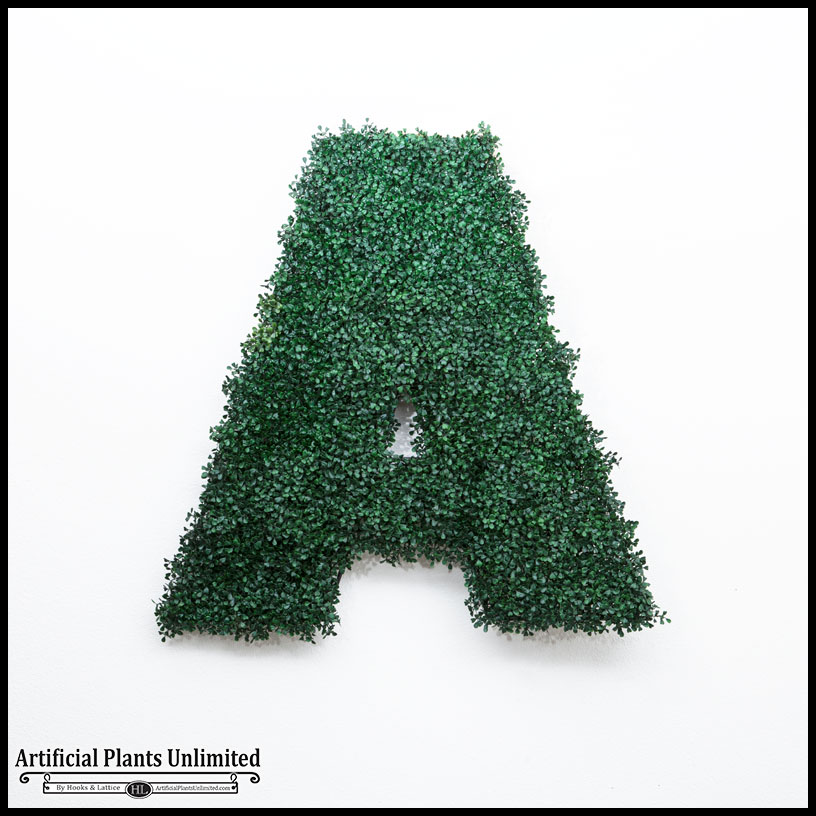 36in h living wall letter outdoor