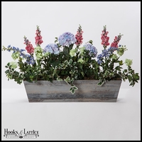 30in. Modern Farmhouse Window Box - Distressed Reclaimed Finish