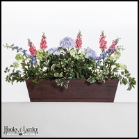 72in. Modern Farmhouse Window Box - Reclaimed Cherry Finish