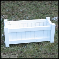 36in. Rectangle Slatted Cedar Planter