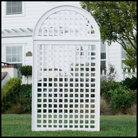 "37""W x 98""H Cambridge PVC Composite Lattice Trellis - 2 Part"