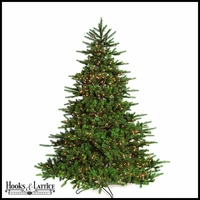 7.5 ft Aspenwood Pre-Lit Spruce Artificial Christmas Tree w/ Clear Lights