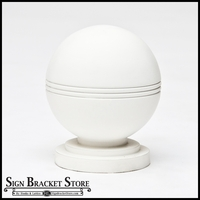 "4"" Dia. Striped Ball w/ Pedestal Newel Post Top"