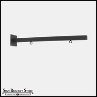 "40"" Heavy Duty Straight Arm Sign Bracket with Rings"