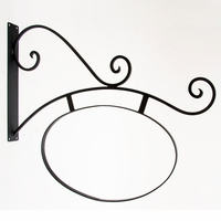 "40"" Milano Sign Bracket with Stationary Oval Sign Frame"