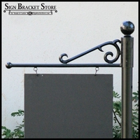 "40"" Premium ""S"" Scroll Slip Over Sign Bracket"