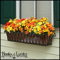 42in. Del Mar Decora Window Box w/ Oil- Rubbed Bronze Galvanized Liner