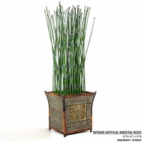 42in. H Outdoor Artificial Horsetail Reeds Per Foot- High Density