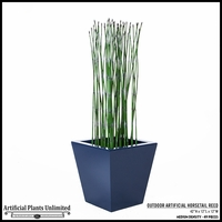 42in. H Outdoor Artificial Horsetail Reeds Per Foot- Medium Density