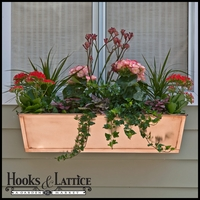 42in. Real Copper Window Box or Decora Liner