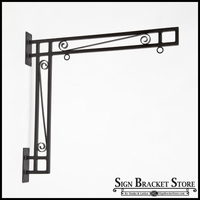 36in. Hawthorne Scroll Truss Hanging Sign Bracket
